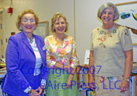 Author Faith R. Connors with JU Chancellor Emeritus Dr. Frances Kinne and Dr. Margaret Jan